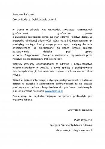 list_rodzice_koronawirus