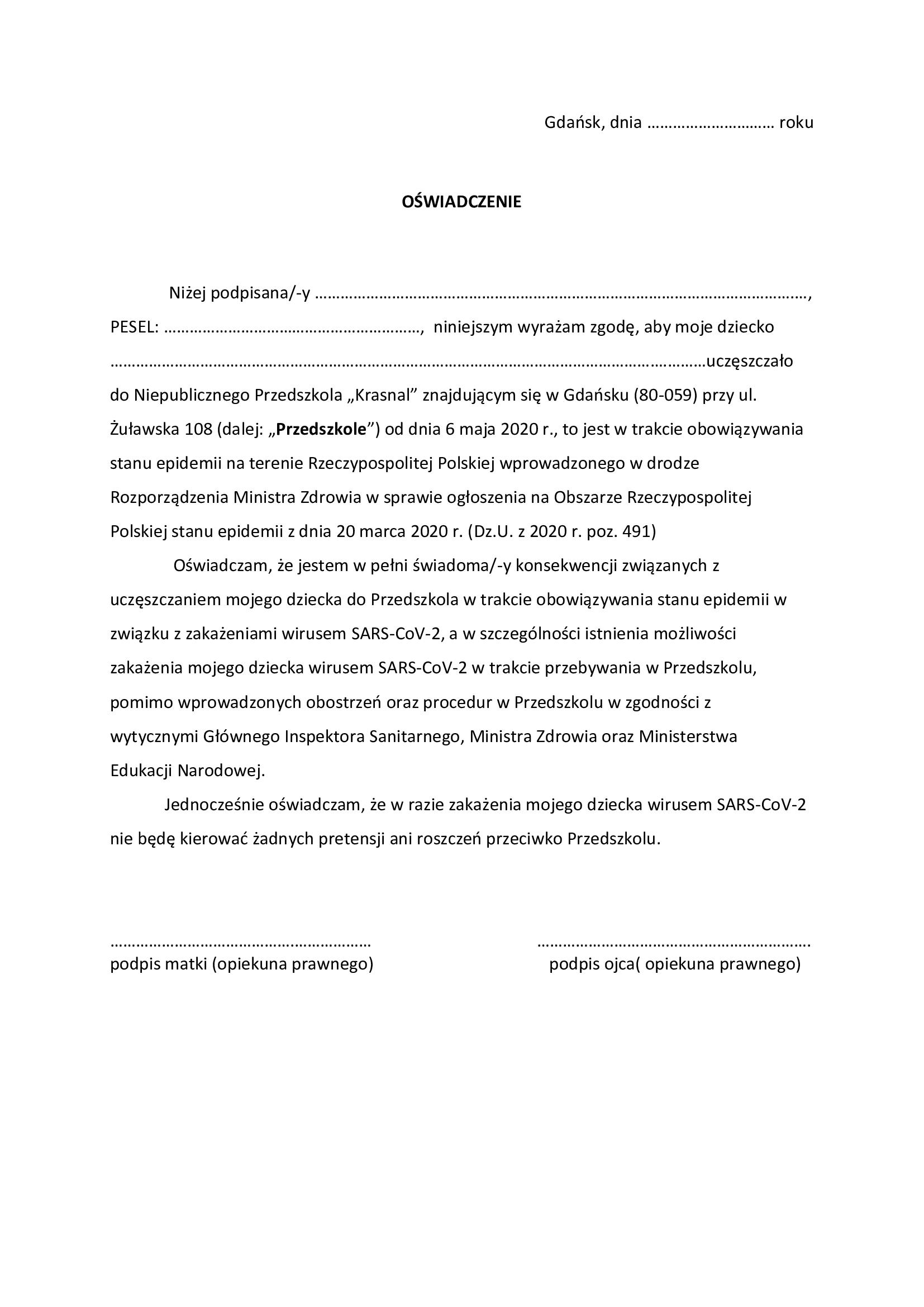 ZASADY OBOWIĄZUJĄCE W CZASIE ZAGROŻENIA EPIDEMICZNEGO CZ.2
